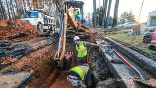 Gwinnett County water main break repaired, roads reopened