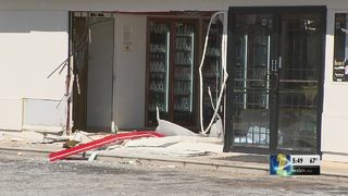 Thieves crash van into store to steal ATM