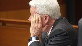 "Tex McIver cries as he watches video of wife at hospital: ""I"