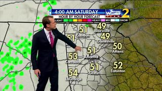 Clouds but dry and mild Friday night