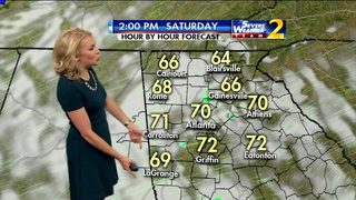Isolated showers possible across metro Atlanta Saturday afternoon