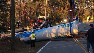 Tanker truck accident evacuates hospital in Lumpkin County