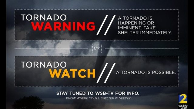 TORNADO WATCH Vs. TORNADO WARNING: What's The Difference