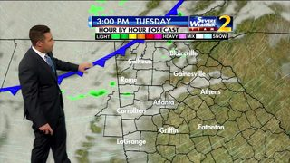 Cold air moves in, cloudy Tuesday afternoon