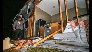 PHOTOS: Storms cause extensive damage in south Fulton County