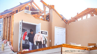 Security increased to prevent potential looters after tornado destroys neighborhood