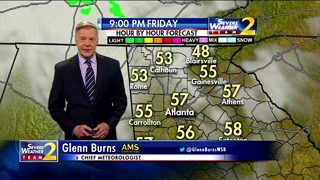 Clouds to increase throughout Friday evening