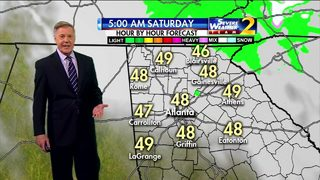 Cloudy, cool start to your Saturday