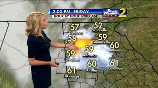 Mostly cloudy skies, temperatures in mid 50s Friday afternoon
