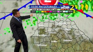 Mild, dry for Saturday afternoon