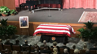 Hundreds gather for public memorial service for Zell Miller