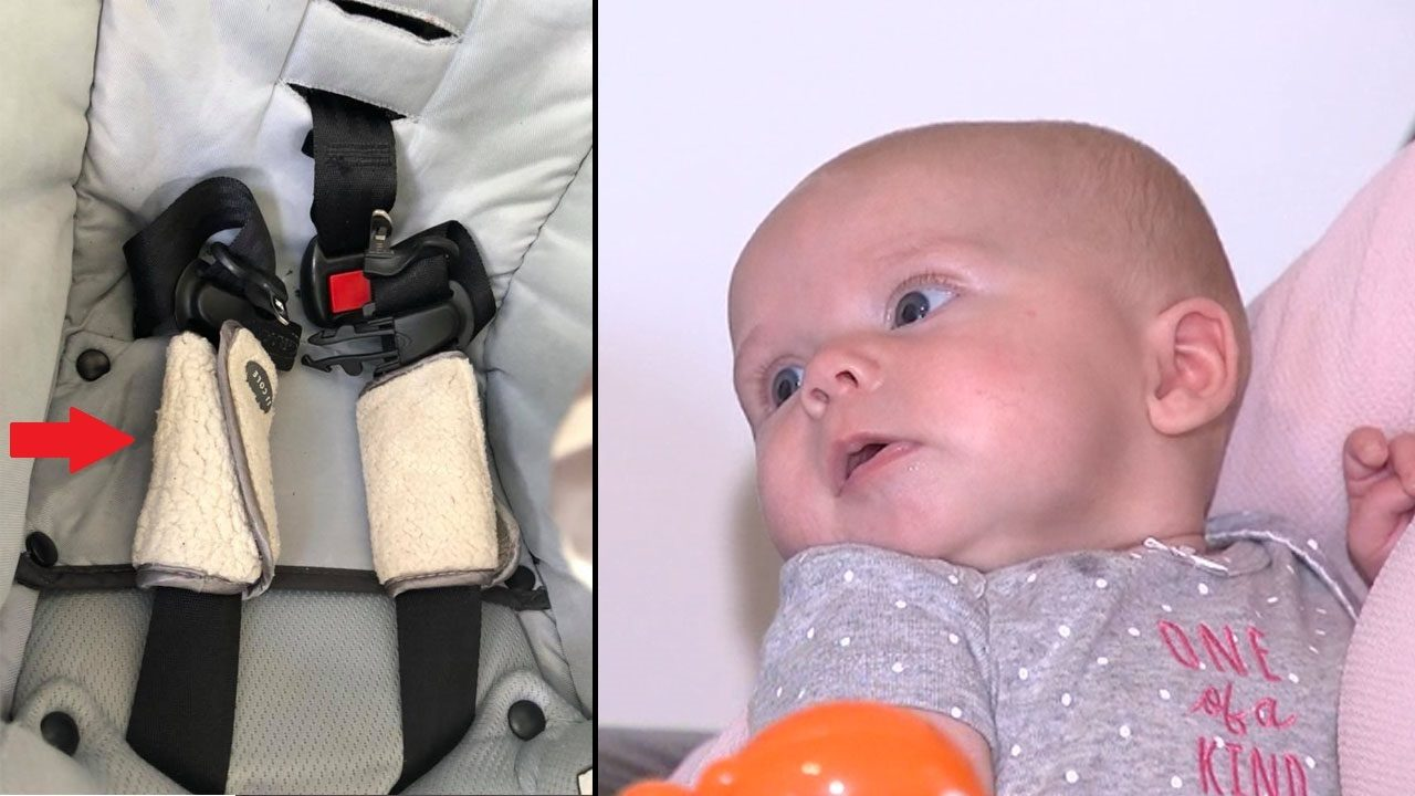Mother warns parents after infant thrown from car seat during crash ...