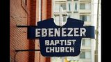 """Throughout its long history, Ebenezer Baptist Church has been a spiritual home to many citizens of the """"Sweet Auburn"""" community. Its most famous member, Rev. Martin Luther King, Jr., was baptized as a child in the church. (FRANK NIEMEIR/AJC staff)"""