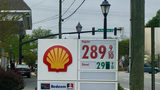 Gas prices at a Shell station on Monday, April 16, 2018.