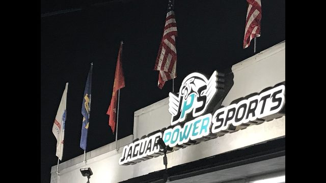 Military Flags At Jaguar Power Sports