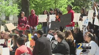 Dozens of students meet at state capitol to protest gun violence