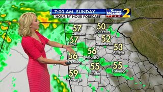 Widespread rain expected Satuday