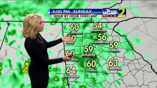 Rain increases throughout Sunday afternoon