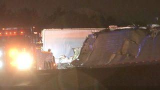 Authorities investigate deadly semi-truck crash on I-285