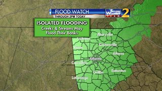 Flood Watch in effect as rain moves through metro