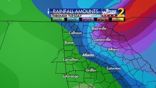 Heavy rain will continue into Monday night