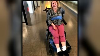 Woman with MS says Delta employees tied her to wheelchair