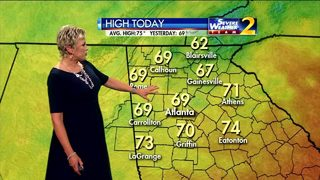 Rain moves out of metro Atlanta Tuesday morning