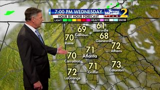 Partly cloudy skies, temperatures in lower 70s Wednesday evening