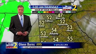 Rain to move into north Georgia Thursday afternoon