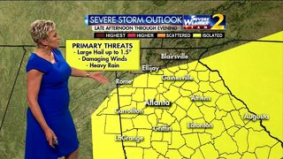 Showers, storms move into metro Atlanta Thursday afternoon