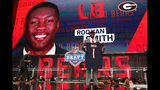 Roquan Smith of Georgia poses after being picked #8 overall by the Chicago Bears during the first round of the 2018 NFL Draft at AT&T Stadium on April 26, 2018 in Arlington, Texas. (Photo by Tom Pennington/Getty Images)