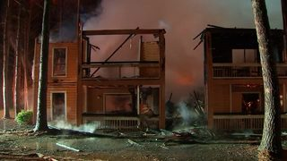 Man saves neighbor from fire minutes before building collapses