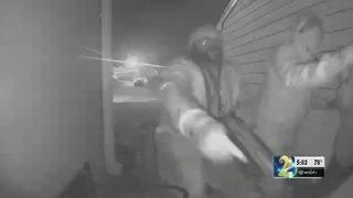 Gunmen kick down family