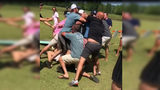 RAW VIDEO: Brawl breaks out at charity cornhole tournament