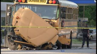 Driver in critical condition following serious wreck with school bus