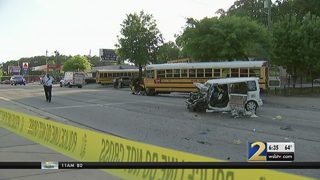 Driver in critical condition after crash involving school bus