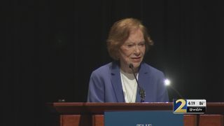 Former First Lady Rosalynn Carter receives award for mental health work