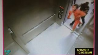 Surveillance video appears to show deputy shove inmate into elevator
