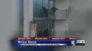 BREAKING: Worker rescued after scaffolding collapses in at Midtown highrise