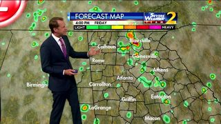 Scattered showers in parts of metro Atlanta early Friday evening