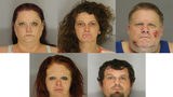 5 arrested for allegedly possessing over $100,000 of meth in Hall County.