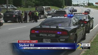 High school student hit by car going to school