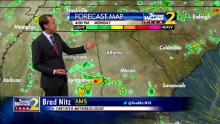 Mostly cloudy Monday afternoon ahead