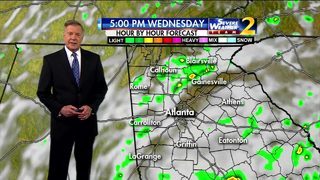 Cloudy skies and warm temps on tap for Wednesday morning