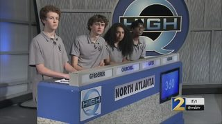 North Atlanta High students celebrate High Q victory