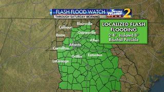 Flash Flood Watch issued for much of Georgia