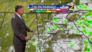 Partly cloudy, few isolated showers Thursday evening