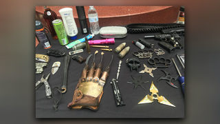 TSA travel tip: Throwing stars, Freddy Krueger glove should go in checked bag, not carry-on