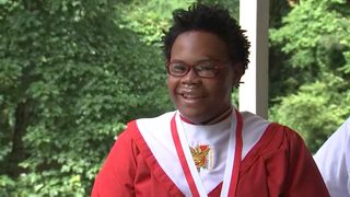Student graduates days after he was hit by car, suffered a concussion