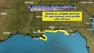Tropical storm watch issued for parts of Gulf Coast ahead of Alberto